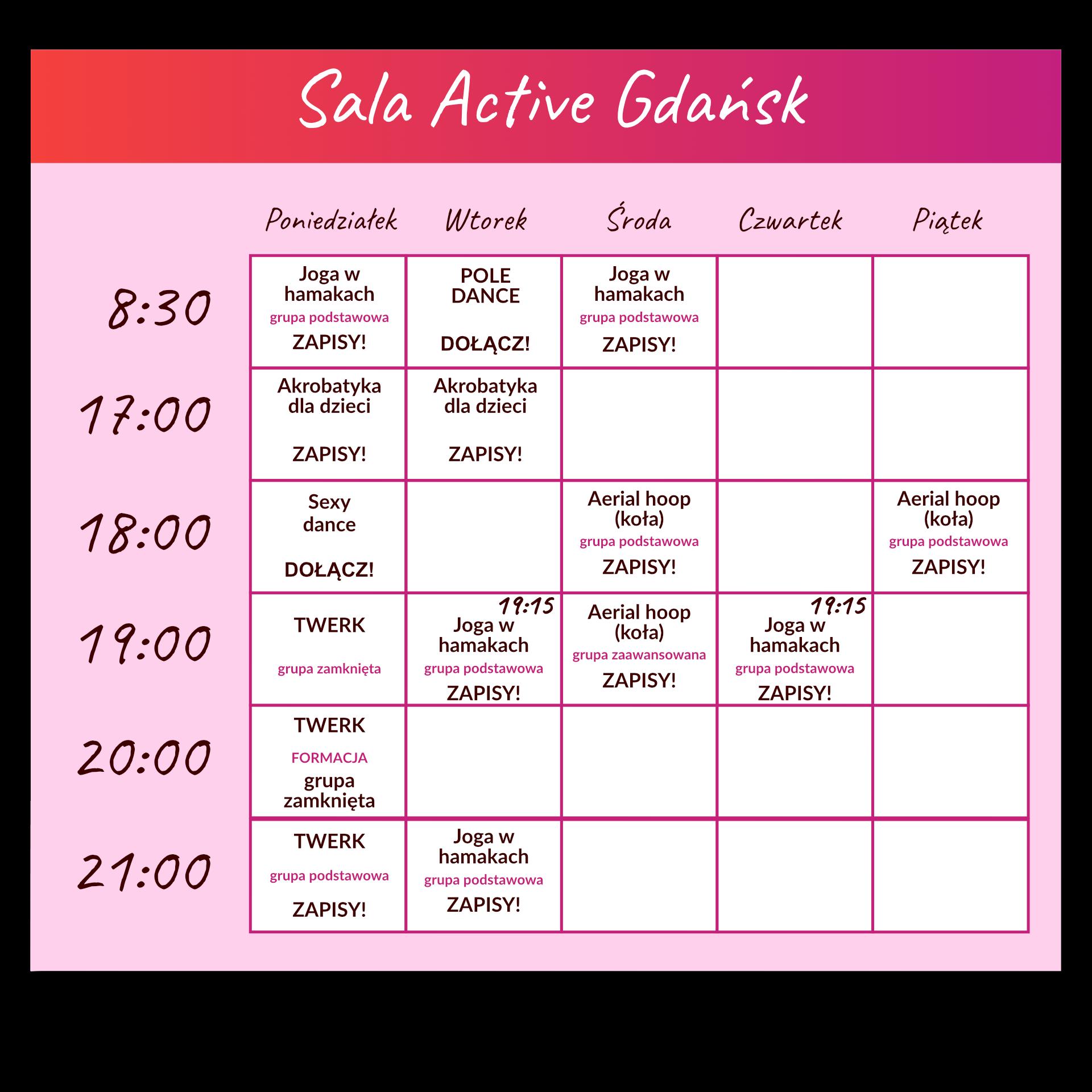 endorfina kalendarz sala active-090921-2